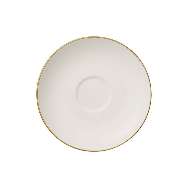 Anmut Gold Tee-Untertasse, Durchmesser 15 cm, Weiß/Gold, , large