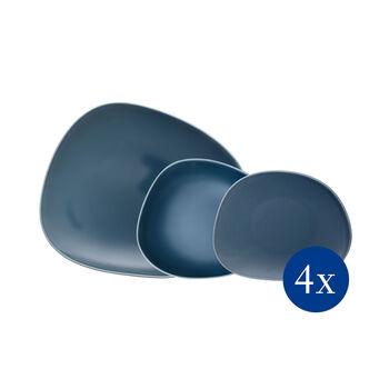 Organic Turquoise Teller Starter-Set, türkis, 12-teilig