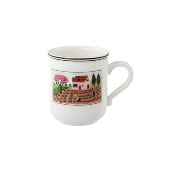 Design Naif Kaffeebecher mit Henkel Gärtner