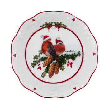 Toy's Fantasy kleine Schale Vögel, bunt/rot/weiß, 17 x 17 x 3 cm