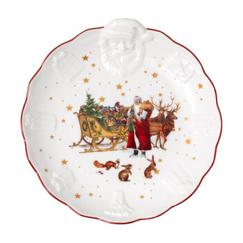 Toy's Fantasy Schale mit Santa-Relief Nostalgie, bunt/rot/weiß, 24 x 25 x 4,6 cm