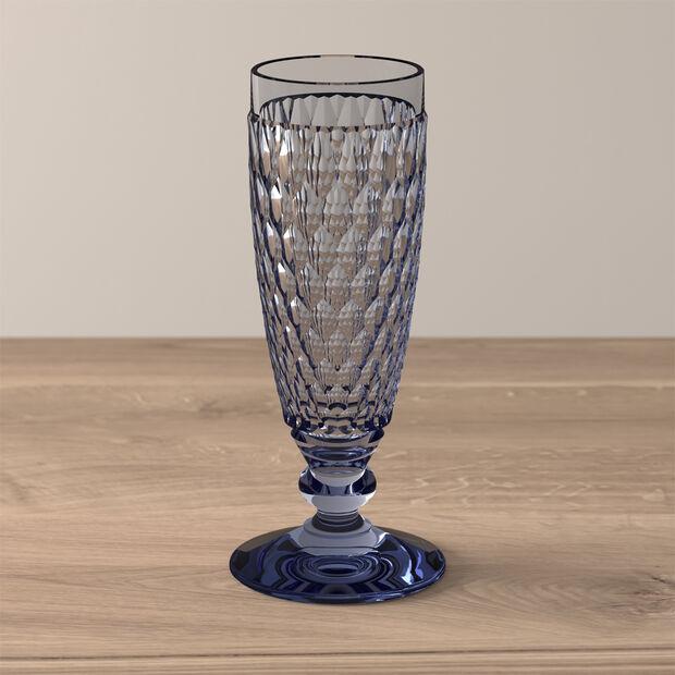 Boston Coloured Sektglas Blue, , large