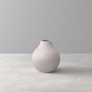 Manufacture Collier Vase, 11x12cm, Perle, Beige