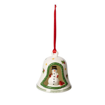 My Christmas Tree Glocke mit Schneemann, bunt, 6 x 6 x 7 cm