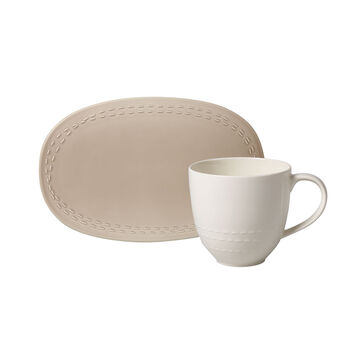 like.by Villeroy & Boch it's my moment Set, 2-teilig, für 1 Person, almond