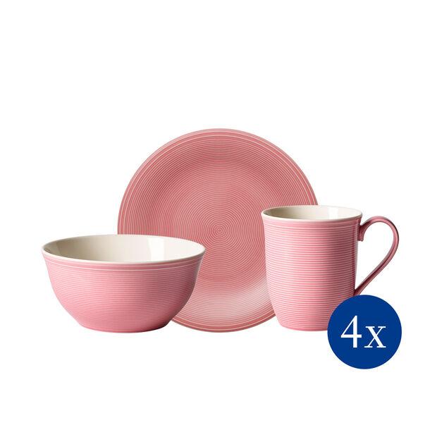 Color Loop Rose Frühstücks-Set, rose, 12-teilig, , large