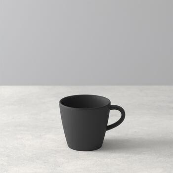 Manufacture Rock Espressotasse, schwarz/grau, 8,5 x 6,5 x 6 cm