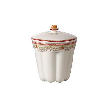 Winter Bakery Delight small jar Bundt cake, red/multicoloured, 13 x 13 x 16 cm, 720 ml
