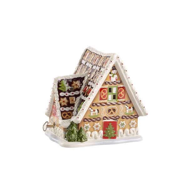 Christmas Toys Lebkuchenhaus mit Spieluhr 16x13x16cm, , large