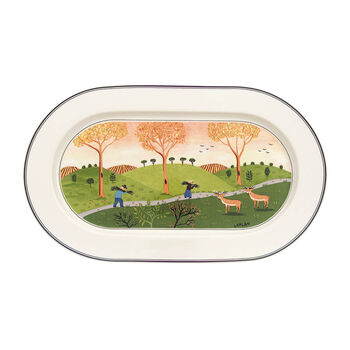 Design Naif ovale Platte 34cm