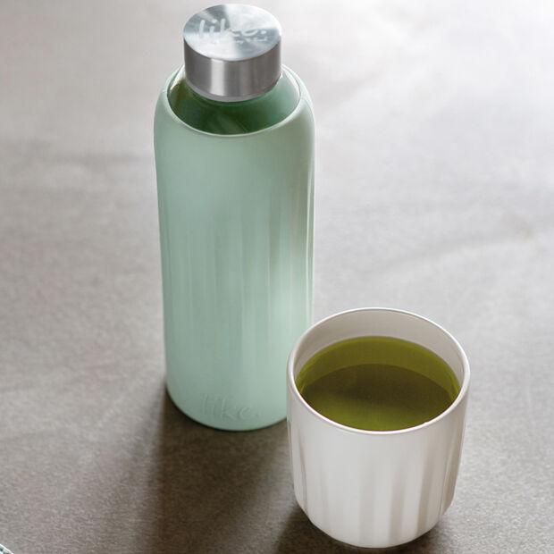 ToGo&ToStay Glas-Flasche, 0,5l, mit Silikonmantel, mintgrün, , large