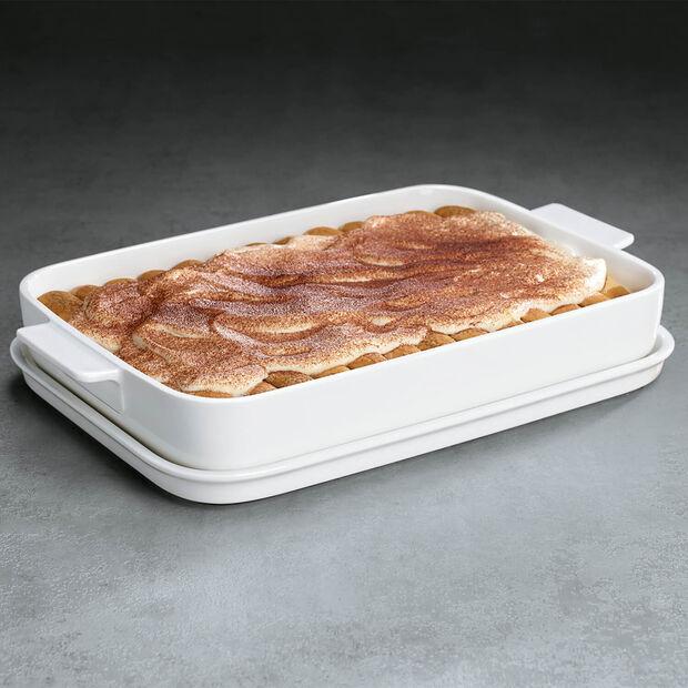 Clever Cooking rechteckige Backform mit Deckel 34 x 24 cm, , large