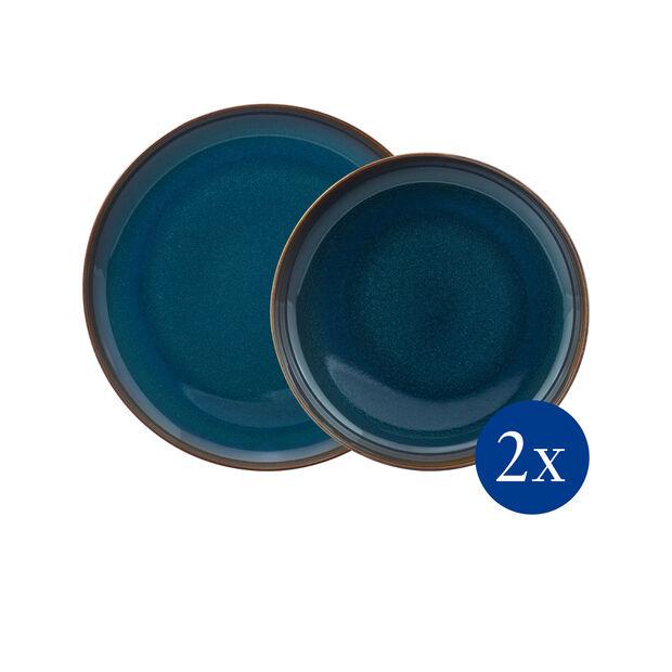 Crafted Denim Tafel-Set, blau, 4-teilig, , large