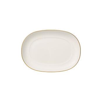 Anmut Gold Sauciere-Unterteil, Länge 20 cm, Weiß/Gold