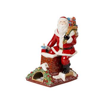 Christmas Toy's Memory Santa auf Dach, bunt, 23,5 x 17 x 32 cm