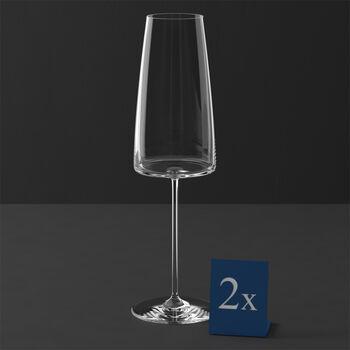 MetroChic Sektglas, 2 Stück, 450 ml
