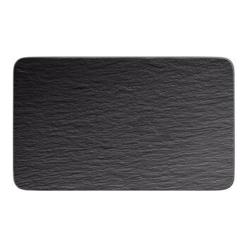 Manufacture Rock rechteckiger Multifunktionsteller, schwarz/grau, 28 x 17 x 1 cm