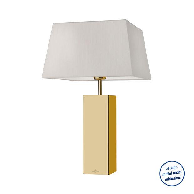 Leuchten Tischleuchte Prag eckig, gold 320x320x530mm, , large