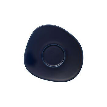 Organic Dark Blue Kaffee-Untertasse, dunkelblau, 17,5 cm