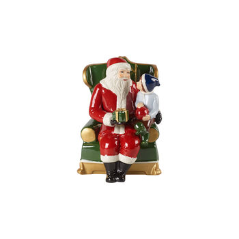 Christmas Toy's Santa auf Sessel, bunt, 10 x 10 x 15 cm