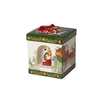 Christmas Toys  großes eckiges Geschenkpaket Santa Claus, 16x16x20cm