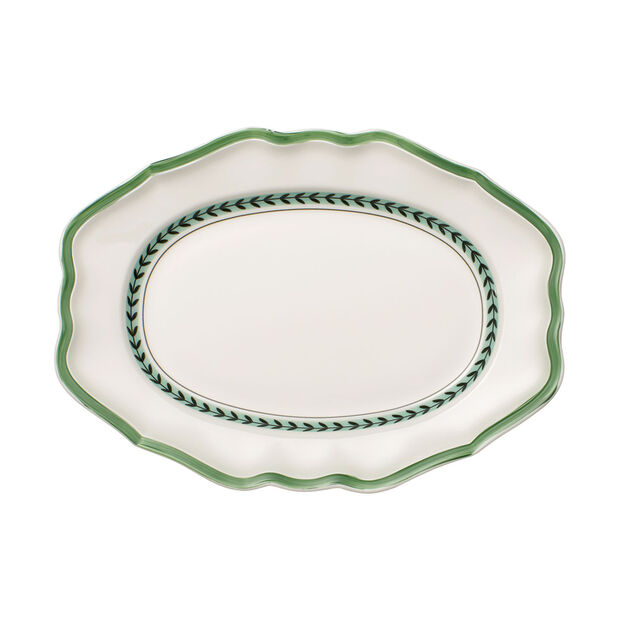 French Garden Green Line ovale Platte, , large