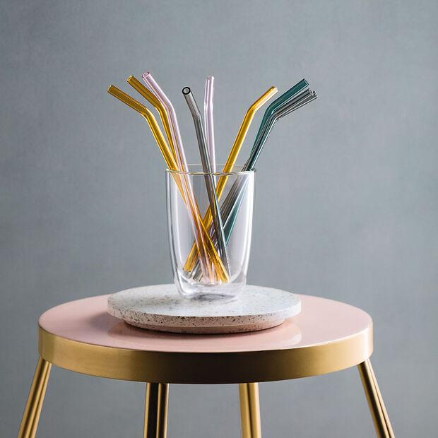 like.by Villeroy & Boch Artesano Hot&Cold Beverages Glas-Strohhalm Set 5tlg., , large