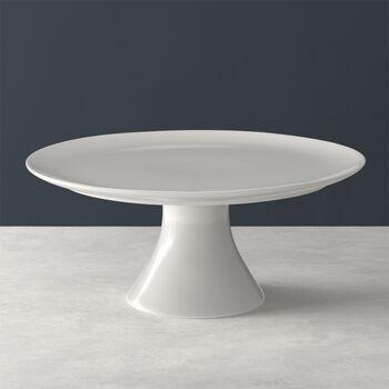 For Me Kuchenplatte mit Fuß, weiß, 30 x 30 x 13 cm