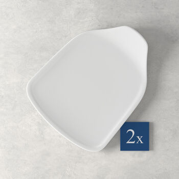 Pizza Passion Pizzastück-Teller Set 2 Stück 24,5x19,5cm