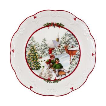 Toy's Fantasy große Schale Schlittenfahrt, bunt/rot/weiß, 24,5 x 24,5 x 4 cm