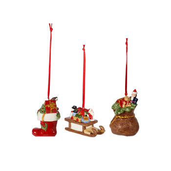 Nostalgic Ornaments Ornamente-Set Geschenke, bunt, 3-teilig, 6,3 cm
