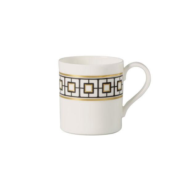 MetroChic Kaffeetasse, 210 ml, Weiß-Schwarz-Gold, , large