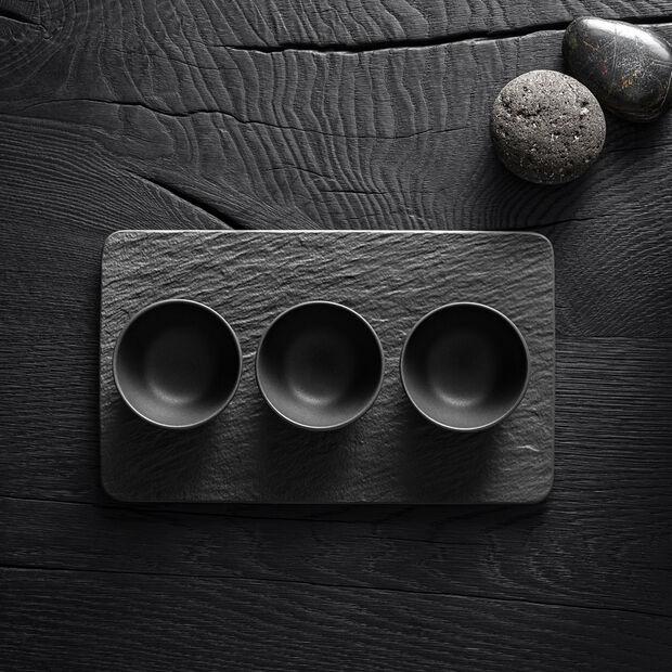 Manufacture Rock Dipschälchen-Set, schwarz/grau, 8 x 8 x 4 cm, 4-teilig, , large
