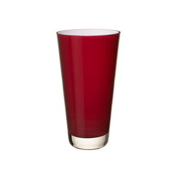 Verso Vase klein deep cherry 250mm