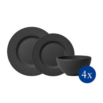 Manufacture Rock Teller-Set, 12tlg,  4 Personen