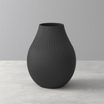 Manufacture Collier noir Vase Perle hoch 16x16x20cm