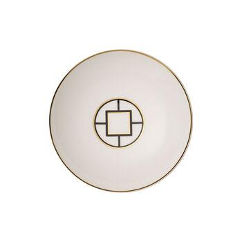 MetroChic Suppenteller, Durchmesser 20 cm, Tiefe 5 cm, Weiß-Schwarz-Gold