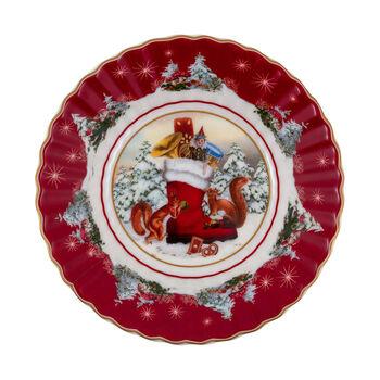 Toy's Fantasy kleine Schale Stiefel, bunt/rot/weiß, 16 x 16 x 3 cm