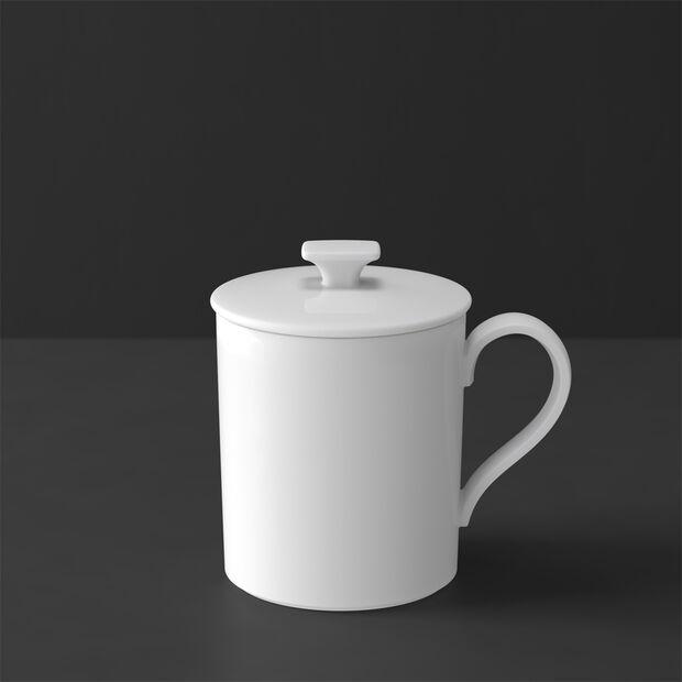 MetroChic blanc Gifts Becher mit Deckel 11,5x8,5x11cm, , large