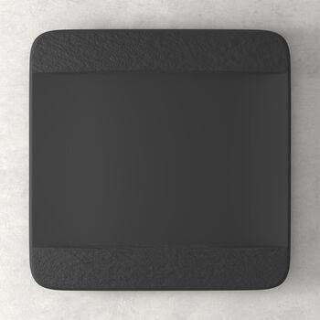 Manufacture Rock quadratischer Speiseteller, schwarz/grau, 28 x 28 x 2 cm