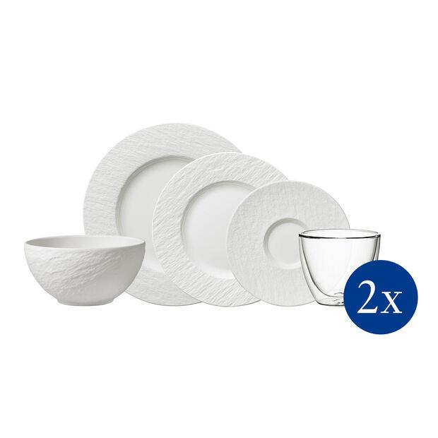 Manufacture Rock Geschirr-Set, 10-teilig, für 2 Personen, Weiß, , large