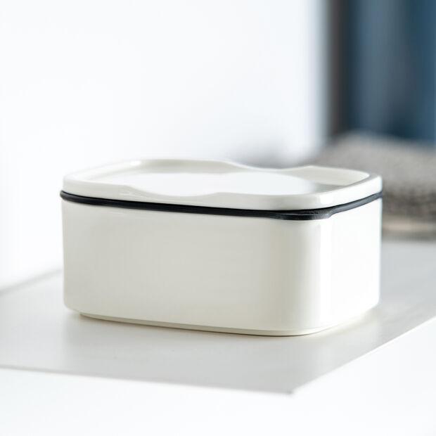 ToGo&ToStay Lunchbox, 13x10x6cm, eckig, weiß, , large