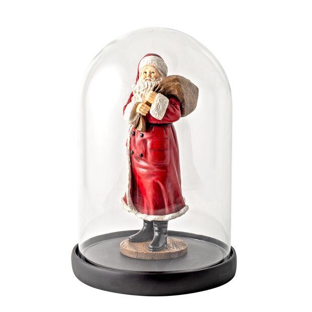 Winter Collage Accessoires Glocke Santa mit Sack und Bär, bunt, 10,2 x 10,2 x 26,4 cm, , large