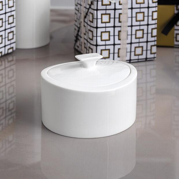 MetroChic blanc Gifts Porzellandose 16x13x10cm, , large