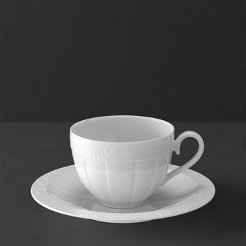 White Pearl Kaffee-/Teetasse mit Untertasse 2tlg.