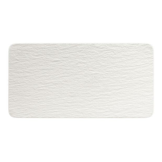 Manufacture Rock Blanc rechteckige Servierplatte, weiß, 35 x 18 x 1 cm, , large