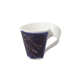 NewWave Stars Becher Zwillinge, 300 ml, Blau/Weiß