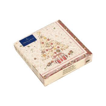 Winter Specials Bakery Cocktail-Serviette Weihnachtsbaum, weiß/bunt, 20 Stück, 25 x 25 cm