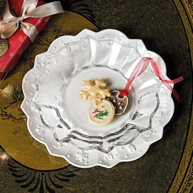 Christmas Glass Accessories Schale, klar, 25 cm, 850 ml, , large