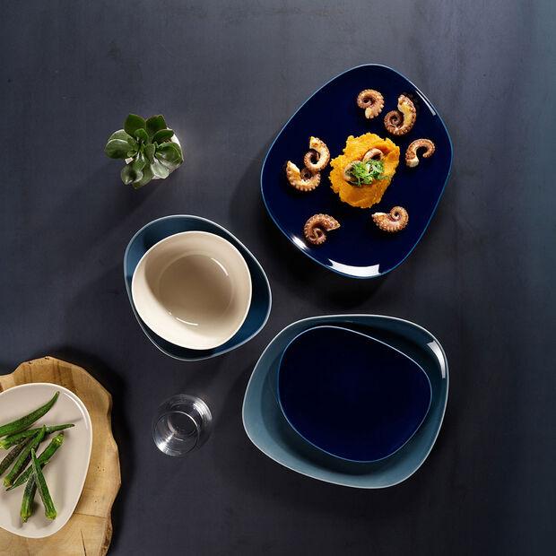 Organic Dark Blue Speiseteller 28 x 24 x 3cm, , large